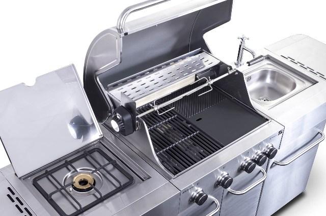 Obrázek galerie pro produkt G21 Arizona BBQ Premium line + AKCE Dárek, Zahradní BBQ kuchyně s plynovým grilem a dřezem