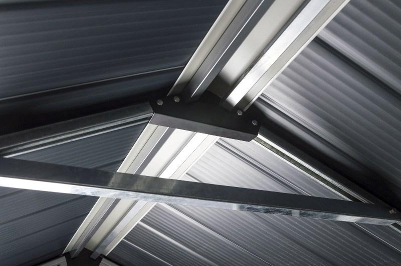 Obrázek galerie pro produkt G21 PAH 357 šedý + AKCE, Zahradní domek na nářadí, tvrzený plast, 1,8 x 1,9 m
