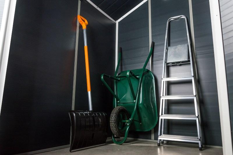 Obrázek galerie pro produkt G21 PAH 523 šedý + AKCE, Zahradní domek na nářadí 1,9 x 2,8 m, tvrzený plast