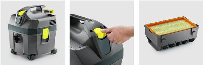 Obrázek galerie pro produkt Kärcher NT 20/1 Ap 1.378-500.0 Profi stavební vysavač s oklepem filtru
