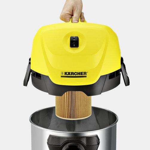 Obrázek galerie pro produkt Kärcher WD 3 Premium Plus 1.629-862.0 + 5ks sáčků, Mokro-suchý vysavač s nádobou 17 litrů