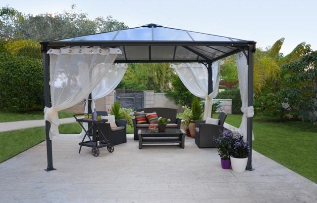 Obrázek galerie pro produkt Palram Palermo 3600 + AKCE% a Záruka+, Zahradní hliníkový altán s polykarbonátovou střechou /702780/