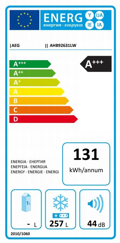 Obrázek galerie pro produkt AEG AHB92631LW Truhlicová mraznička A+++,257 litrů + Dárek