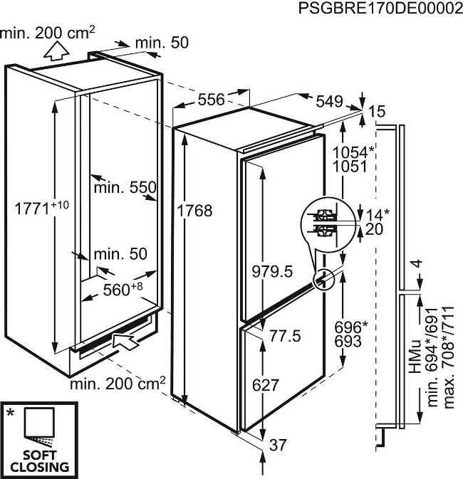 Obrázek galerie pro produkt AEG Mastery CustomFlex SCB61824LF Vestavná kombinovaná chladnička A++, 177cm, 36dB