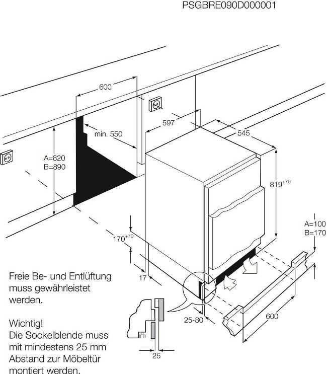Obrázek galerie pro produkt AEG Mastery SKB58211AF Vestavná chladnička pod desku A+, 82cm
