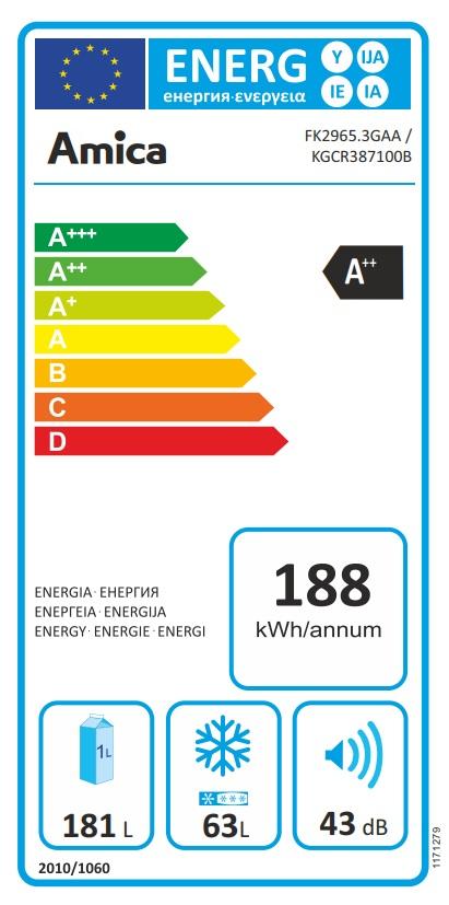 Obrázek galerie pro produkt Amica KGCR 387100 B Retro kombinovaná chladnička béžová, A++,181cm
