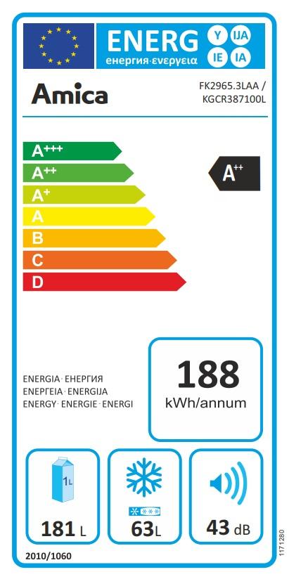 Obrázek galerie pro produkt Amica KGCR 387100 L modrá Retro kombinovaná chladnička, A++,181cm