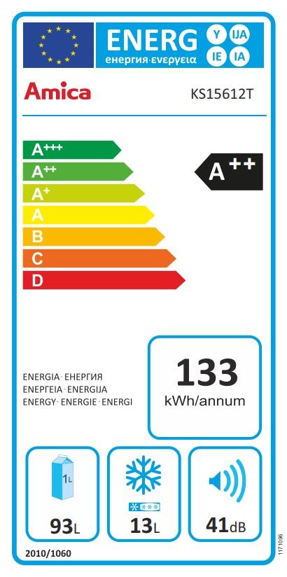 Obrázek galerie pro produkt Amica VT 862 AL modrá Retro jednodveřová chladnička, A++, 86cm