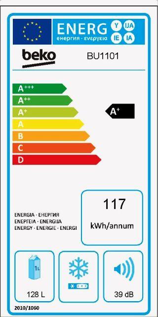 Obrázek galerie pro produkt Beko BU1101HCA Vestavná jednodveřová lednice, monoklimatická A+, 82cm