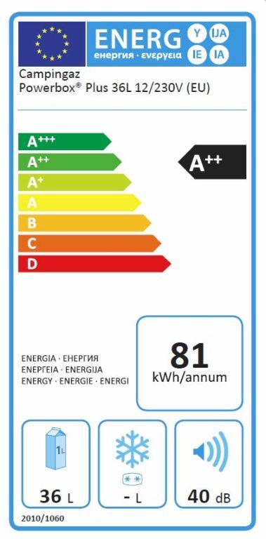 Obrázek galerie pro produkt Campingaz Powerbox Plus 36 l Termoelektrický chladicí box /200030254/