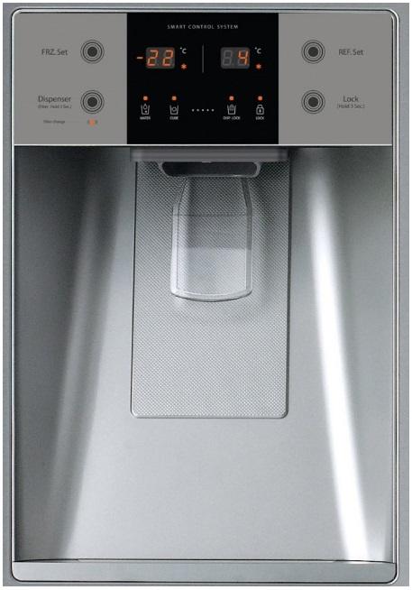 Obrázek galerie pro produkt Daewoo FRN Q39F2B Americká lednice černá s minibarem A++,No Frost + DÁREK