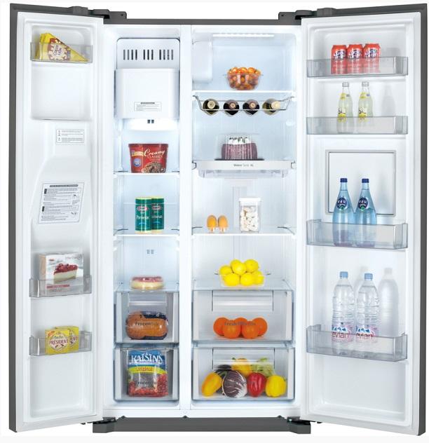 Obrázek galerie pro produkt Daewoo FRN Q39NPFS Americká lednice nerez s minibarem + DÁREK