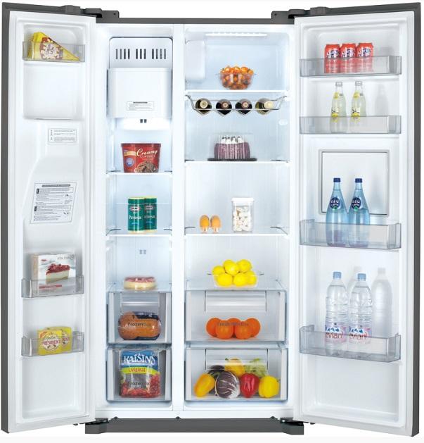 Obrázek galerie pro produkt Daewoo FRN Q39F2S Americká lednice nerez s minibarem + DÁREK