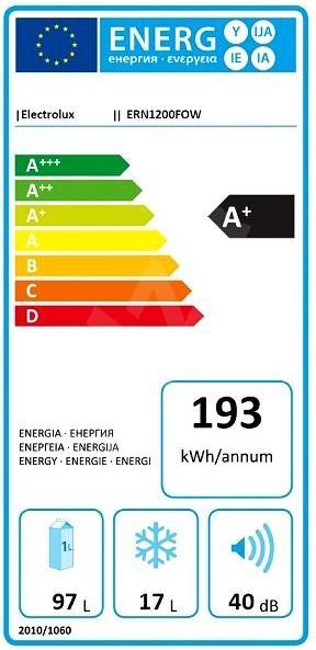 Obrázek galerie pro produkt Electrolux ERN1200FOW Vestavná chladnička s mrazící přihrádkou A+,82cm