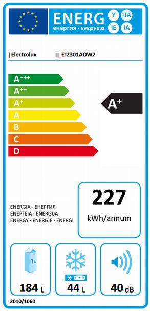 Obrázek galerie pro produkt Electrolux EJ2301AOW2 Lednice s mrazákem nahoře bílá A+,140cm