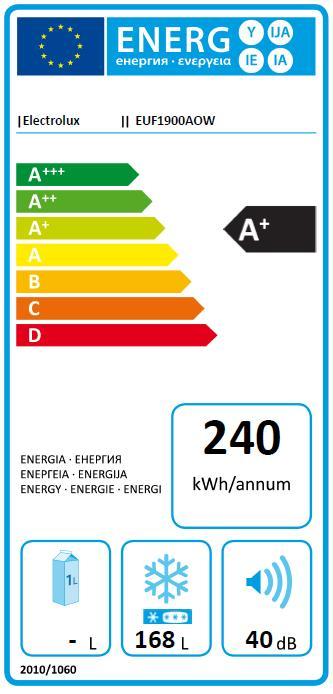 Obrázek galerie pro produkt ELECTROLUX EUF1900AOW Šuplíkový mrazák A+, 125cm
