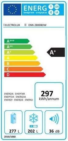 Obrázek galerie pro produkt Electrolux ENN2800BOW Vestavná lednice s mrazákem dole A+,177cm