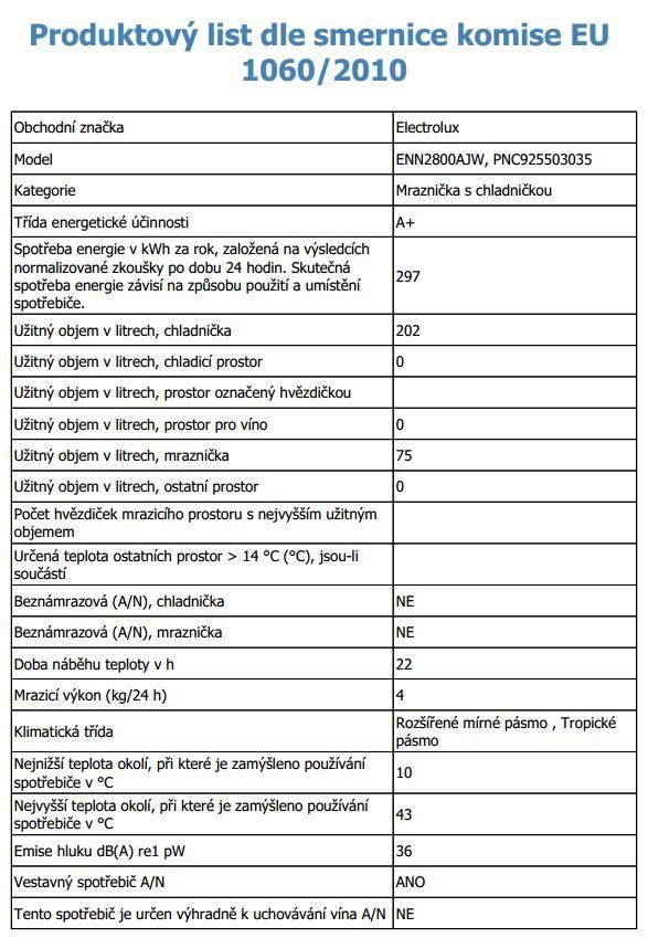Obrázek galerie pro produkt Electrolux ENN2800AJW Vestavná kombinovaná lednice A+, 177cm