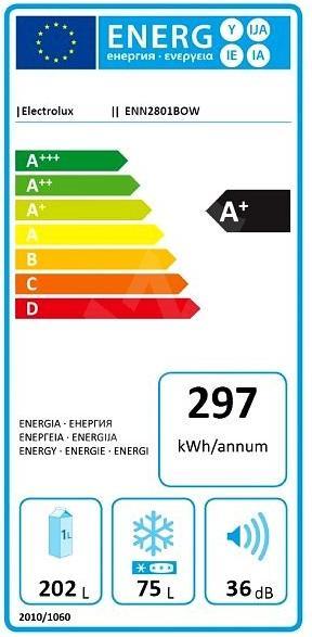 Obrázek galerie pro produkt Electrolux ENN2801BOW Vestavná lednice s mrazákem dole A+,177cm