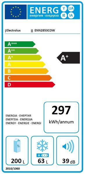 Obrázek galerie pro produkt Electrolux ENN2853COW Vestavná lednice s mrazákem dole A+,177cm, NoFrost
