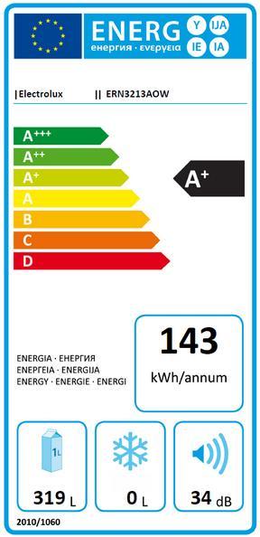 Obrázek galerie pro produkt Electrolux ERN3213AOW Vestavná lednice jednodveřová, 177cm, A+, 310l