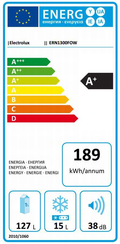 Obrázek galerie pro produkt Electrolux ERN1300FOW Vestavná lednice jednodveřová A+, 87cm