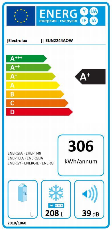 Obrázek galerie pro produkt Electrolux EUN2244AOW Vestavná mraznička šuplíková 177cm