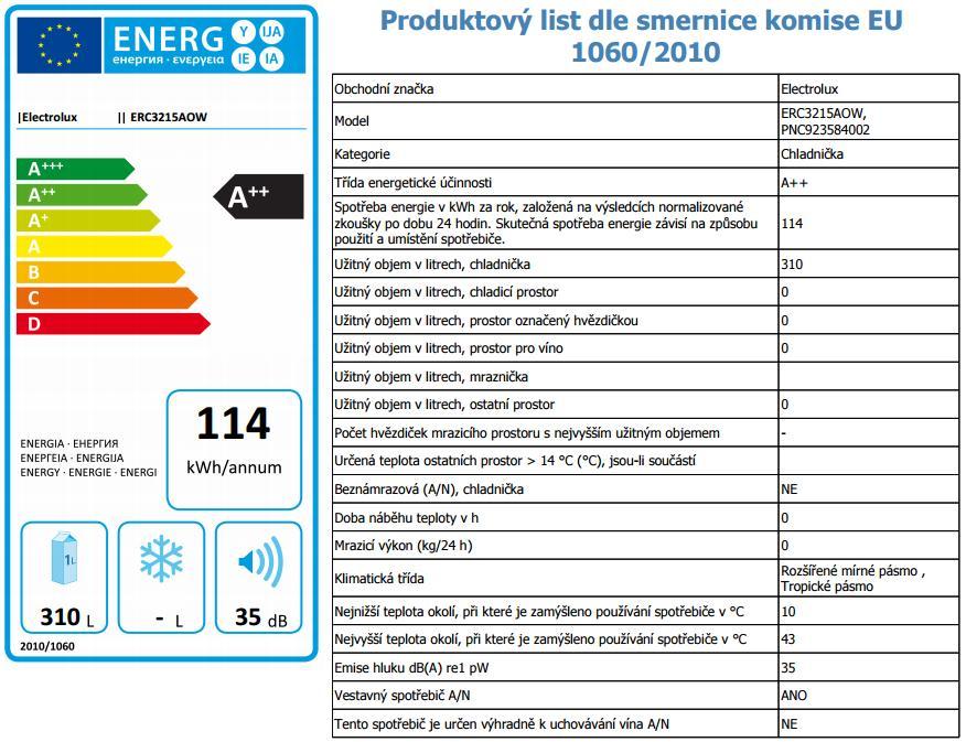 Obrázek galerie pro produkt Electrolux ERC3215AOW Vestavná jednodveřová lednice, 177cm, A++, 310l, Nízkoteplotní zásuvka