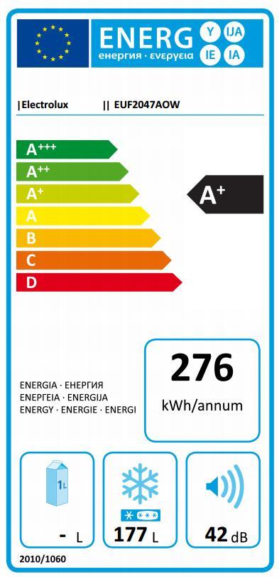 Obrázek galerie pro produkt Electrolux EUF2047AOW Mrazák šuplíkový bílý s výškou 155cm, A+, Frost Free