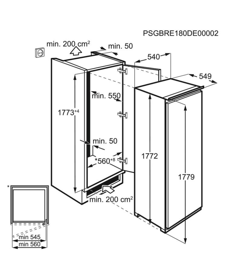 Obrázek galerie pro produkt Electrolux LUT6NF18S NoFrost Vestavná šuplíková mraznička A+,177cm