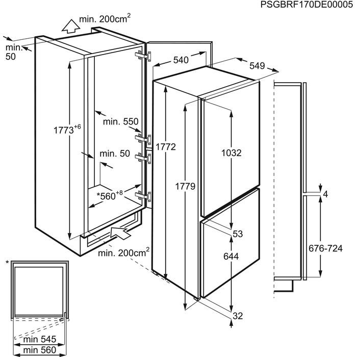 Obrázek galerie pro produkt Electrolux LNT2LF18S LowFrost Vestavná chladnička kombinovaná s mrazákem dole
