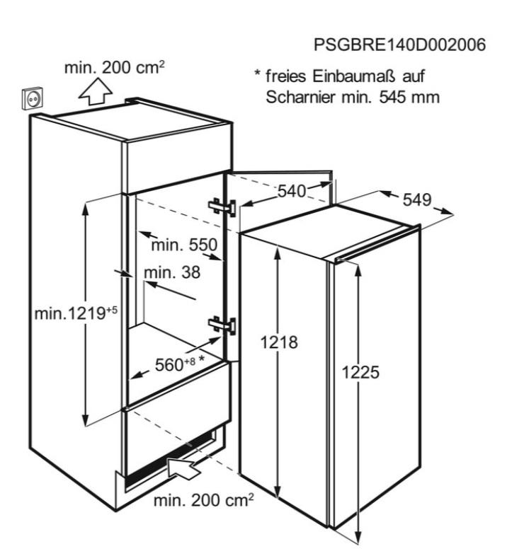 Obrázek galerie pro produkt Electrolux LRB3AF12S Vestavná chladnička monoklimatická 122cm