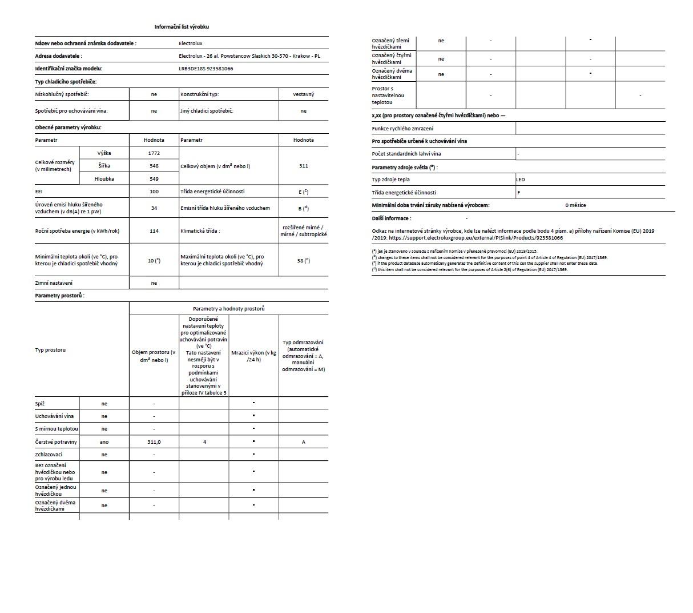 Obrázek galerie pro produkt Electrolux LRB3DE18S Vestavná chladnička monoklimatická