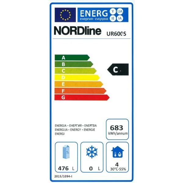 Obrázek galerie pro produkt NORDline UR 600 S nerez + AKCE DÁREK a Záruka+, Profi lednice nerez na přepravky