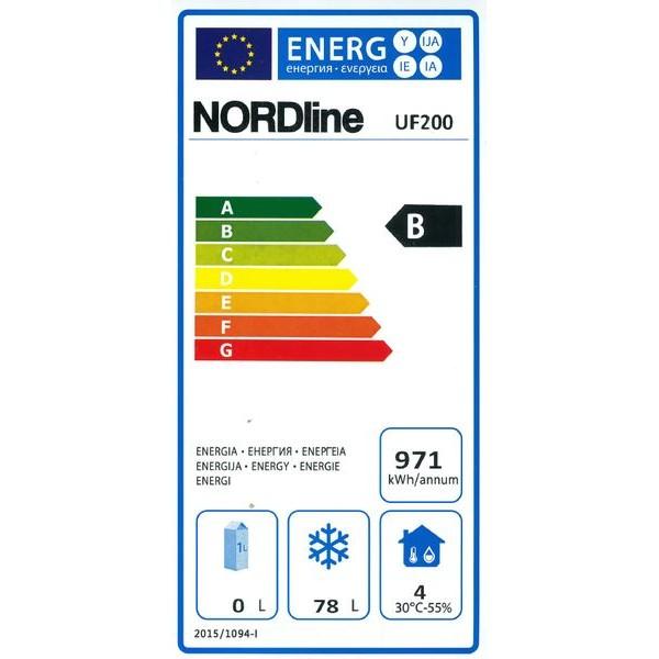 Obrázek galerie pro produkt NORDline UF 200 + DÁREK, Profi podbarový mrazák bílý 85cm