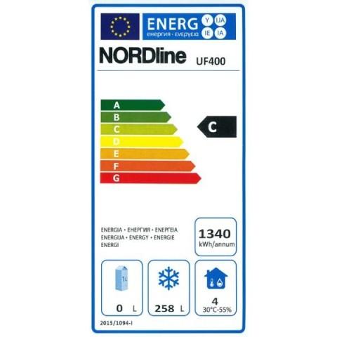 Obrázek galerie pro produkt NORDline UF 400 bílá + DÁREK, Profi gastro mrazící skříň se zámkem