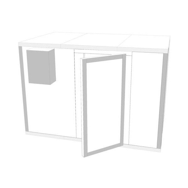 Obrázek galerie pro produkt Polair KXH 11,02 + DÁREK,Chladící stavebnicový montovaný box z pur panelů