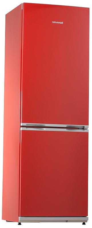 Obrázek galerie pro produkt Snaige RF34SM-S1RA21 ICE LOGIC + AKCE, Kombinovaná lednice červená, A+, 185cm