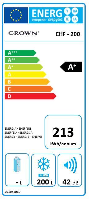Obrázek galerie pro produkt Crown CHF-200 Truhlicová mraznička A+, 200L