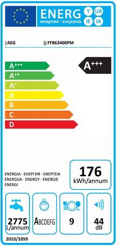 Obrázek galerie pro produkt AEG Mastery FFB63400PM Myčka nádobí nerez 45cm, A++, 9sad + Dárek