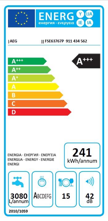 Obrázek galerie pro produkt AEG Mastery SatelliteClean FSE63767P Plně vestavná myčka 60cm, A+++, AirDry