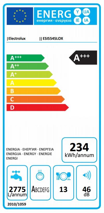 Obrázek galerie pro produkt Electrolux 600 AirDry ESI5545LOX Vestavná myčka nádobí s panelem A++, 60cm