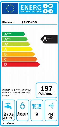 Obrázek galerie pro produkt Electrolux ESF4661ROX AirDry Slimline Myčka nádobí nerez 45cm, A++, Invertor motor