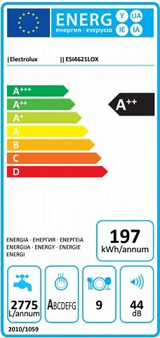 Obrázek galerie pro produkt Electrolux 300 AirDry ESI4621LOX Slimline Vestavná myčka A+++, 45cm, 9sad