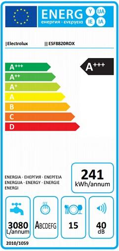 Obrázek galerie pro produkt Electrolux ESF8820ROX Myčka nádobí nerez 60cm, AirDry, A+++, Příborová zásuvka