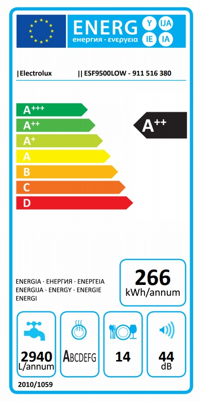 Obrázek galerie pro produkt Electrolux ESF9500LOW Myčka nádobí bílá 60cm, A++, AirDry, Příborová zásuvka MaxiFlex