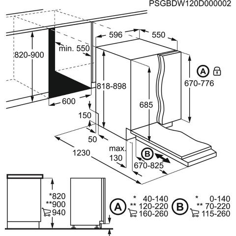 Obrázek galerie pro produkt Electrolux 700 PRO GlassCare EEG67310L Vestavná plně integrovaná myčka 60cm, A+++, AirDry