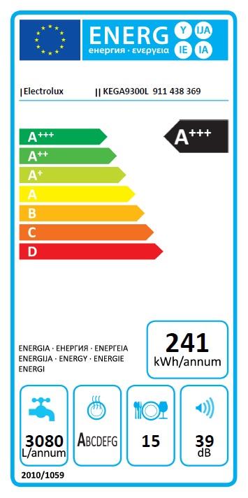 Obrázek galerie pro produkt Electrolux KEGA9300L 700 PRO GlassCare Vestavná myčka nádobí 60cm, A+++,15sad