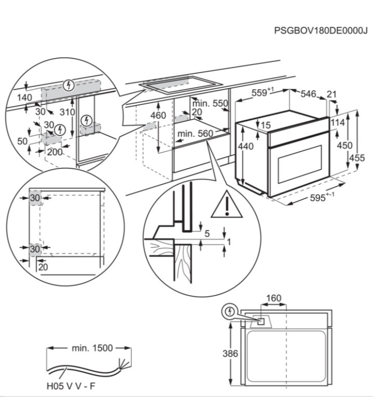 Obrázek galerie pro produkt Electrolux EVK6E40X 600 FLEX Quick&Grill Vestavná trouba kompaktní nerez, objem 46l