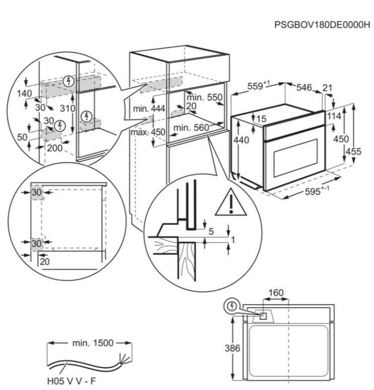 Obrázek galerie pro produkt Electrolux EVK6E40Z 600 FLEX Quick&Grill Vestavná trouba kompaktní černá, objem 46l